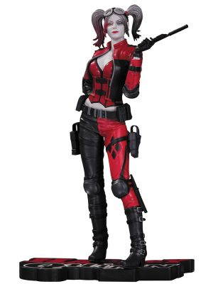HARLEY QUINN RED WHITE & BLACK INJUSTICE