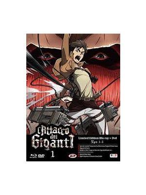 L' Attacco Dei Giganti #01 (Eps 01-05) (Limited Edition, Versione Combo) (Blu-Ray+Dvd)