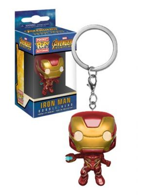 Pop Funko Keychain -  IRON MAN bobble head -  Avengers