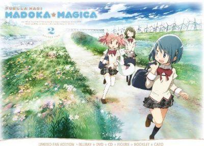 Madoka Magica #02 (Eps 05-08) (Limited Fan Edition) (Dvd+Blu-Ray+Cd+Booklet+Figure+Card)